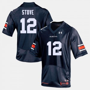 For Men Tigers #12 Eli Stove Navy College Football Jersey 183215-871
