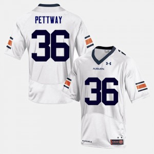 For Men's AU #36 Kamryn Pettway White College Football Jersey 765985-161