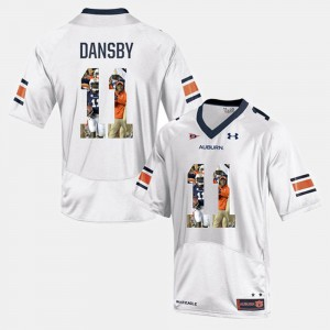 For Men's Auburn University #11 Karlos Dansby White Player Pictorial Jersey 175991-679