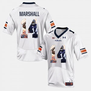 For Men's AU #14 Nick Marshall White Player Pictorial Jersey 965808-545