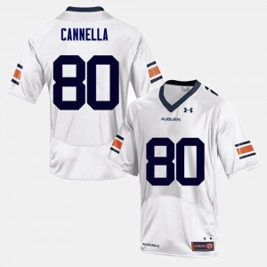 For Men AU #80 Sal Cannella White College Football Jersey 899385-425