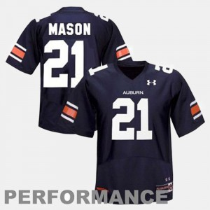 For Men Tigers #21 Tre Mason Blue College Football Jersey 517940-650