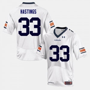 Mens AU #33 Will Hastings White College Football Jersey 515746-271