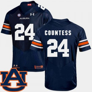 For Men's Tigers #24 Blake Countess Navy College Football SEC Patch Replica Jersey 196862-159