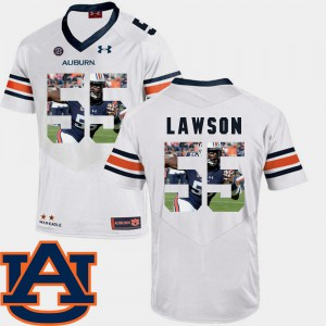 For Men's AU #55 Carl Lawson White Pictorial Fashion Football Jersey 809945-815