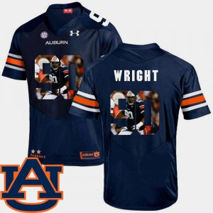 For Men Tigers #90 Gabe Wright Navy Pictorial Fashion Football Jersey 636987-308