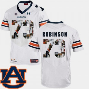 For Men's AU #73 Greg Robinson White Pictorial Fashion Football Jersey 738903-979