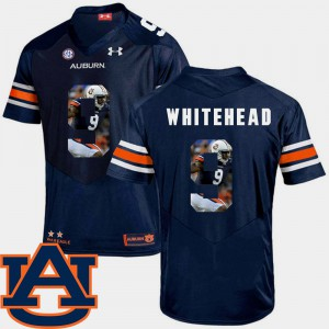 For Men Tigers #9 Jermaine Whitehead Navy Pictorial Fashion Football Jersey 394077-265