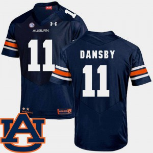 Men AU #11 Karlos Dansby Navy College Football SEC Patch Replica Jersey 261738-341