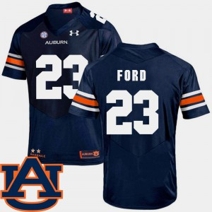 For Men's AU #23 Rudy Ford Navy College Football SEC Patch Replica Jersey 183420-119
