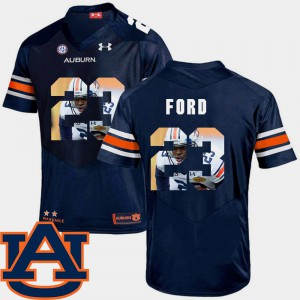 Men's Auburn #23 Rudy Ford Navy Pictorial Fashion Football Jersey 598946-386