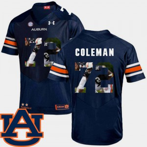 Mens Tigers #72 Shon Coleman Navy Pictorial Fashion Football Jersey 791997-405