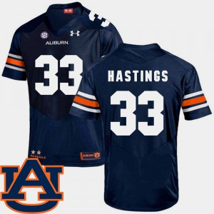 For Men's AU #33 Will Hastings Navy College Football SEC Patch Replica Jersey 195697-983